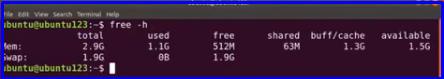 Ubuntu RAM size