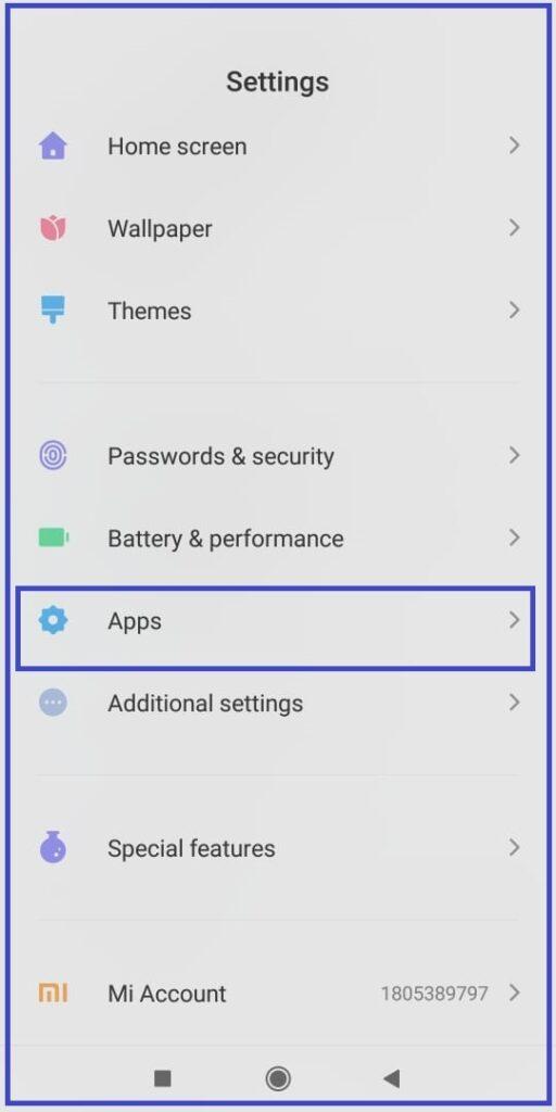 phone settings apps
